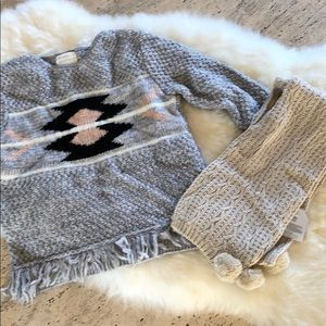 Zara kids sweater and scarf size 5/6